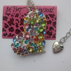 Betsey Johnson Heart Necklace/Brooch